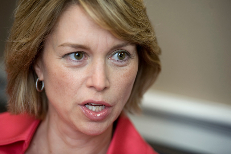 Rep. Stephanie Herseth Sandlin, D-S.D., is interviewed by Roll Call in her Cannon office, June 30, 2010.