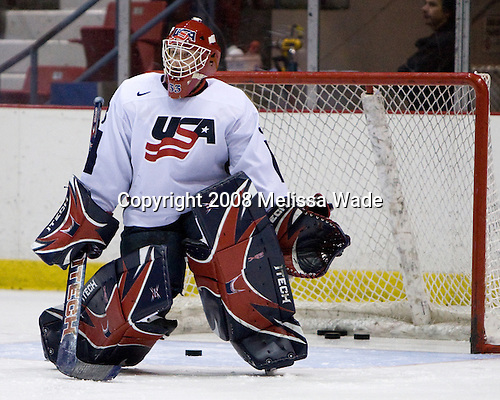 Adam Murray (US - 33) - Team USA defeated Team Finland 3-2 to win the Four Nations Cup (Under-18 boys) on Saturday, November 9, 2008 in the 1980 Rink in Lake Placid, New York.