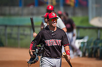Shane Mardirosian (13) of the Billings Mustangs before the game against the Ogden Raptors in Pioneer League action at Lindquist Field on August 16, 2015 in Ogden, Utah. Billings defeated Ogden 6-3.  (Stephen Smith/Four Seam Images)