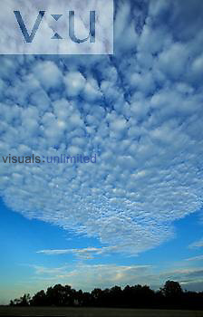 Altocumulus clouds, mackeral sky