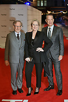 Steven Spielberg, Meryl Streep, Tom Hanks<br /> &quot;The Post&quot; European film premiere at the Odeon cinema, Leicester Square, London, England on January 10th, 2017<br /> CAP/PL<br /> &copy;Phil Loftus/Capital Pictures