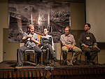 Photography panel including Ben and Karen Willmore, Tom Bol and Grant Kaye discuss their favorite images during the Friday evening session at Shooting the West XXVII, Winnemucca, Nev.