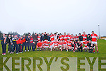Daingean Uí Chúis team and supporters celebrating after defeating Annascaul during the West Kerry Senior Final at Lios Poil GAA Grounds in Sunday afternoon..