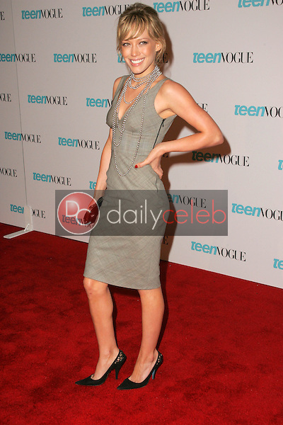 Hilary Duff<br /> At the release party for the Teen Vogue Young Hollywood Issue, The Hollywood Roosevelt Hotel, Hollywood, CA 09-20-05<br /> David Edwards/DailyCeleb.Com 818-249-4998