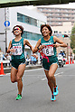 (L-R) Yoko Shibui, ..Yuki Hidaka (Mitsui Sumitomo Kaijo), NOVEMBER 3, 2011 - Ekiden : East Japan Industrial Women's Ekiden Race at Saitama, Japan. (Photo by Toshihiro Kitagawa/AFLO)