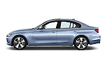 Car Driver side profile view of a 2014 BMW SERIES 3 Sport 4 Door Sedan 2WD Side View
