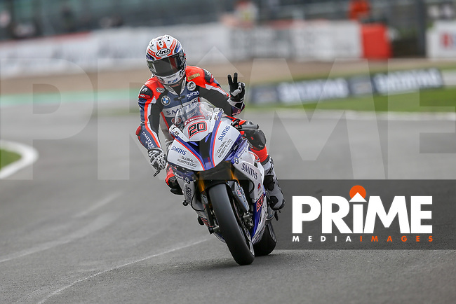 Sylvain BARRIER (20) of the BSB Smith Racing (BMW) race team during Free Practice 2 at Round 9 of the 2018 British Superbike Championship at Silverstone Circuit, Towcester, England on Friday 7 September 2018. Photo by David Horn.