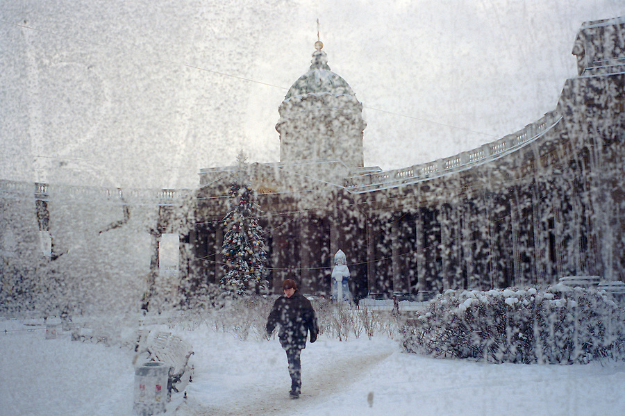 Saint petersburg celebrates tricentennial in 2003 the jeremy st petersburg russia january 2003kazansky cathedral on nevsky prospect as winter publicscrutiny Gallery