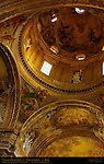 Dome Vault detail Frescoes Giovanni Battista Gaulli Trompe-l'oeil Stuccoes Gaulli Antonio Raggi Chiesa del Gesu Rome