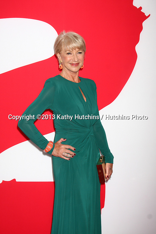 "LOS ANGELES - JUL 11:  Helen Mirren arrives at the ""Red 2"" Premiere at the Village Theater on July 11, 2013 in Westwood, CA"