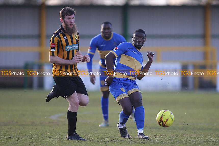 Kwasi Marfo of Romford during Romford vs Cheshunt, Ryman League Division 1 North Football at Ship Lane on 28th January 2017