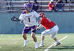 UAlbany Men's Lacrosse defeats Stony Brook on March 31 at Casey Stadium.  Tehoka Nanticoke (#1).