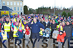 Micheal o Muircheartaigh starts the Killarney Operation Transformation walk in Killarney on Saturday..