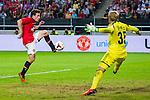 Solna 2013-08-06 Football Friendly Game , AIK - Manchester United FC :  <br /> Manchester United 21 Angelo Henriquez p&aring; v&auml;g att kvittera till 1-1<br /> (Foto: Kenta J&ouml;nsson) Nyckelord:  jubel gl&auml;dje lycka glad happy