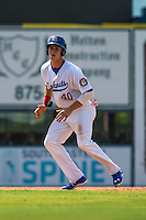 Max Kepler (40) of the Chattanooga Lookouts runs during a game between the Jackson Generals and Chattanooga Lookouts at AT&T Field on May 10, 2015 in Chattanooga, Tennessee. (Brace Hemmelgarn/Four Seam Images)
