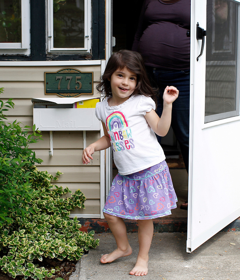 Ava Grey Shurtleff wearing fairy wings at home April 5, 2012. Photo/Andrew Shurtleff