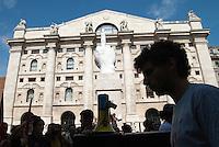 Sciopero generale indetto dai sindacati di base contro la manovra economica del governo. Corteo. Milano, 6 settembre 2011.<br /> <br /> General strike organized by labour unions against the against the government's economic policy. Demonstration. Milan, September 6, 2011