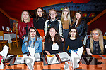 Megan Kennedy from Tralee, celebrating her birthday with friends in Ristorante Uno on Saturday night.<br /> Seated l to r: Michella Barrett, Megan Kennedy, Zara Hiness and Aoife Sheehy.<br /> Standing l to r: Sarah O&rsquo;Connor, Claire Casey, Danny Moriarty, Jade Falvey and Anna McSweeney.