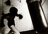 A boxer practices for his upcoming bout. photo by jane therese