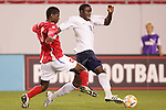 13 March 2008: Jozy Altidore (USA) (12) dribbles past Reinaldo Anderson (PAN) (3). The United States U-23 Men's National Team defeated the Panama U-23 Men's National Team 1-0 at Raymond James Stadium in Tampa, FL in a Group A game during the 2008 CONCACAF's Men's Olympic Qualifying Tournament.