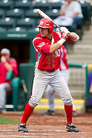 Mike Tauchman (10) of the Bradley Braves at bat during a game against the Missouri State Bears on May 13, 2011 at Hammons Field in Springfield, Missouri.  Photo By David Welker/Four Seam Images