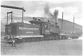 3/4 rear engineer's-side view of Montezuma Lumber Co. #346 switching at McPhee lumber mill.<br /> Montezuma Lumber Co.  McPhee, CO  Taken by Christian, Robert &quot;Bob&quot; - 1947