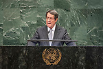 LOS general debate &ndash; 27 September<br /> <br /> AM<br /> <br /> His Excellency Nicos Anastasiades, President, Republic of Cyprus