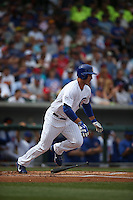 MESA, AZ - MARCH 11:  Anthony Rizzo of the Chicago Cubs bats against the Los Angeles Dodgers during a spring training game at Sloan Park on March 11, 2015 in Mesa, Arizona. (Photo by Brad Mangin)