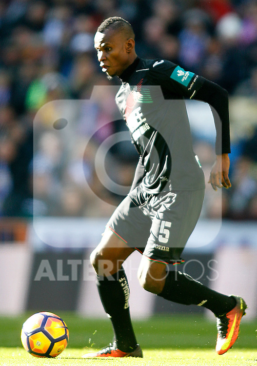 Granada CF's Uche Agbo during La Liga match. January 7,2016. (ALTERPHOTOS/Acero)