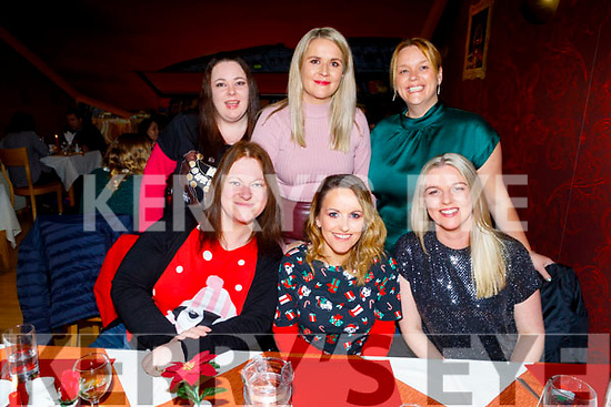 Clerical staff from UHK on their Christmas party in Ristorante Uno on Saturday<br /> Seated l to r: Catriona Lenihan, Sandra Walsh and Sharon McElligott.<br /> Back l to r: Fiona Barrett, Michelle O'Sullivan and Sandra Hayes.