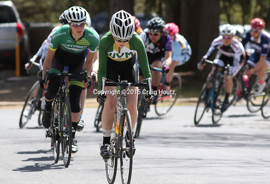 The Women's A/B of the Penn State Frat Row Criterium of the Eastern Collegiate Cycling Conference Championships on April 26, 2015.  Photo/© 2015 Craig Houtz