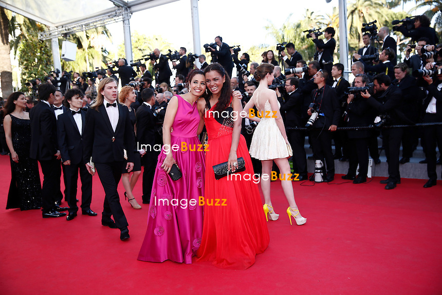 CPE/ Aida Touihri, designer Christophe Guillarme, Laurence Roustandjee and Sarah Barzyk attend 'The Homesman' Premiere at the 67th Annual Cannes Film Festival on May 18, 2014 in Cannes