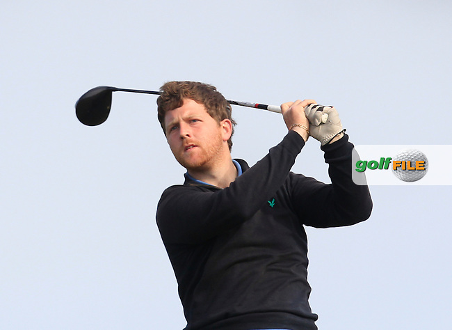 Shaun O'Connor (Carton House) on the 2nd tee during Round 1 of the East of Ireland Amateur Open Championship at Co. Louth Golf Club, Baltray on Saturday 30th May 2015.<br /> Picture:  Thos Caffrey / www.golffile.ie