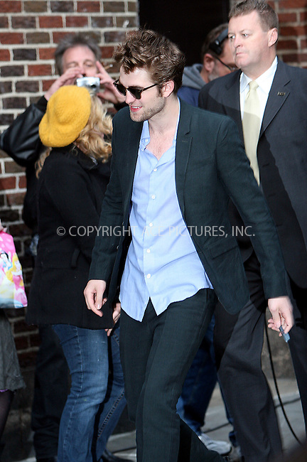 WWW.ACEPIXS.COM . . . . .  ....November 18 2009, New York City....Actor Robert Pattinson made an appearance at 'The Late Show with David Letterman' on November 18 2009 in New York City....Please byline: NANCY RIVERA- ACEPIXS.COM.... *** ***..Ace Pictures, Inc:  ..Tel: 646 769 0430..e-mail: info@acepixs.com..web: http://www.acepixs.com