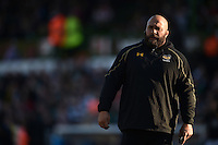 Wasps Head of Strength and Conditioning Dan Baugh looks on during the pre-match warm-up. Aviva Premiership match, between Leicester Tigers and Wasps on November 1, 2015 at Welford Road in Leicester, England. Photo by: Patrick Khachfe / Onside Images