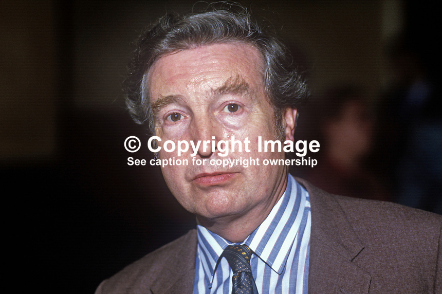 Peter Archer, MP, Labour Party, UK, at annual conference September 1986. 19860934PA<br />