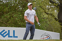 Alex Noren (SWE) watches his tee shot on 12 during sudden death playoff with Kevin Kisner (USA) during day 5 of the World Golf Championships, Dell Match Play, Austin Country Club, Austin, Texas. 3/25/2018.<br /> Picture: Golffile | Ken Murray<br /> <br /> <br /> All photo usage must carry mandatory copyright credit (© Golffile | Ken Murray)