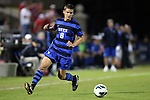 12 October 2012: Duke's Chase Keesling. The University of Maryland Terrapins defeated the Duke University Blue Devils 2-1 at Koskinen Stadium in Durham, North Carolina in a 2012 NCAA Division I Men's Soccer game.