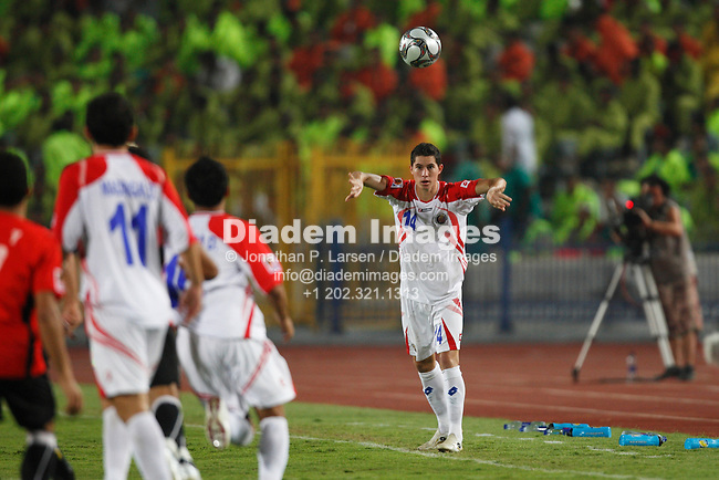 CAIRO - OCTOBER 6:  Bryan Oviedo of Costa Rica takes a throw in during a FIFA U-20 World Cup round of 16 match against Egypt October 6, 2009 at Cairo International Stadium in Cairo, Egypt.  (Photograph by Jonathan P. Larsen)