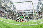 Stockholm 2014-06-18 Fotboll Superettan Hammarby IF - GAIS :  <br /> Hammarbys Marko Mihajlovic ramlar in i m&aring;let efter en m&aring;lchans p&aring; nick framf&ouml;r GAIS m&aring;l i den andra halvleken<br /> (Foto: Kenta J&ouml;nsson) Nyckelord:  Superettan Tele2 Arena Hammarby HIF Bajen GAIS depp besviken besvikelse sorg ledsen deppig nedst&auml;md uppgiven sad disappointment disappointed dejected