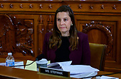 United States Representative Elise Stefanik (Republican of New York) awaits the start of the testimony of Dr. Fiona Hill, former Senior Director for Europe and Russia, National Security Council (NSC), and David A. Holmes, Political Counselor, United States Embassy in Kyiv, Ukraine, on behalf of US Department of State, before the US House Permanent Select Committee on Intelligence public hearing as they investigate the impeachment of US President Donald J. Trump on Capitol Hill in Washington, DC on Thursday, November 21, 2019.<br /> Credit: Ron Sachs / CNP<br /> (RESTRICTION: NO New York or New Jersey Newspapers or newspapers within a 75 mile radius of New York City)