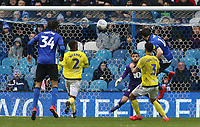 Sheffield Wednesday's Atdhe Nuhiu heads home his side's second goal<br /> <br /> Photographer David Shipman/CameraSport<br /> <br /> The EFL Sky Bet Championship - Sheffield Wednesday v Blackburn Rovers - Saturday 16th March 2019 - Hillsborough - Sheffield<br /> <br /> World Copyright &copy; 2019 CameraSport. All rights reserved. 43 Linden Ave. Countesthorpe. Leicester. England. LE8 5PG - Tel: +44 (0) 116 277 4147 - admin@camerasport.com - www.camerasport.com