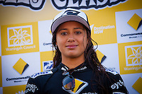 "DEE WHY, Sydney NSW/AUS (Saturday, April 21, 2012) Malia Manuel (HAW).  The Finals of the 2012 Commonwealth Bank Beachley Classic were completed today with Courtney Conlogue (USA) defeating Malia Manuel (HAW) for her first elite women's tour event win. Both finalist had never made it as far before in an ASP World Tour event. The surf was clean, with two-to-three foot (1.5 meter) waves on offer for the Top 17 female surfers in the world to battle for the richest prize purse on the ASP Womens World Championship Tour.. .Stop No. 4 of 7 on the 2012 ASP Womens World Championship Tour, the Commonwealth Bank Beachley Classic is run by seven-time ASP Womens World Champion Layne Beachley, and is in its seventh year.. .""There are a lot of sevens in my life at the moment,"" Beachley said. ""I'm so proud I've been able to run this event for seven years. I'm really appreciative of the Commonwealth Bank's support and am thrilled with the level of women's surfing. It's Finals day today. We've had a decrease in swell, but the girls are incredible at what they do and I'm sure they'll be able to put on a great show today. I'll be getting in the water later in the day for the celebrity challenge, and the Nikon Expression Session."" .Manuel defeated Stephanie Gilmore (AUS) in the quarterfinals and Conlogue defeated Sally Fitzgibbons (AUS) also in the quarterfinals. Gilmore remains number one on the world tour ratings with Fitzgibbons in second place. Photo: joliphotos.com"