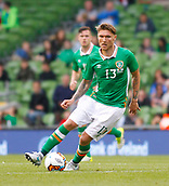June 4th 2017, Aviva Stadium, Dublin, Ireland; International football friendly, Republic of Ireland versus Uruguay; Jeff Hendrick on the ball for Republic of Ireland