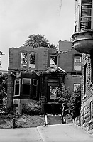 MONTREAL, CANADA - File Photo - Demolition of historic Victorian in the Golden Square Mile in August 1973 .<br /> <br /> File Photo : Agence Quebec Presse - Alain Renaud