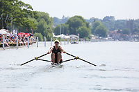 THE DIAMOND CHALLENGE SCULLS<br /> S.E.H. Bannister (525)<br /> N.M.C. Mendes, POR (540)<br /> <br /> Henley Royal Regatta 2018 - Thursday<br /> <br /> To purchase this photo, or to see pricing information for Prints and Downloads, click the blue 'Add to Cart' button at the top-right of the page.