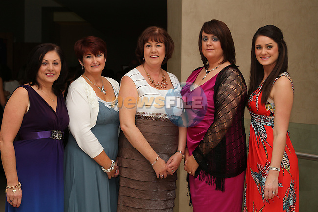 Laura Gallagher, Joan McGrane, Anne Reilly, Michelle Melia and Sarah Ward of Paycheck Plus at the Network Ireland National Conference and Business Women of the Year Awards 2012 - Friday 28th September in Drogheda, Co. Louth..Photo NEWSFILE/Jenny Matthews.