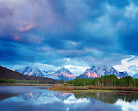 Oxbow Bend of the Snake River and Teton Range, Grand Teton National Park, Wyoming