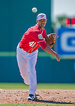 28 February 2016: Washington Nationals pitcher Joe Ross on the mound during an inter-squad pre-season Spring Training game at Space Coast Stadium in Viera, Florida. Mandatory Credit: Ed Wolfstein Photo *** RAW (NEF) Image File Available ***