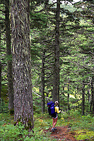 Backpacking on the Lost Lake Trail, Kenai Peninsula, Chugach National Forest, Alaska.